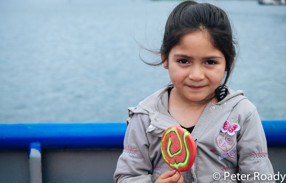 Chiloe girl and lollipop
