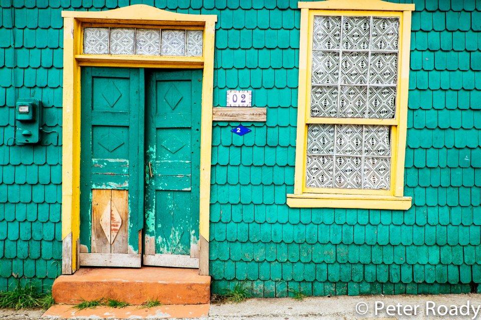 Leaning house in Curaco de Velez