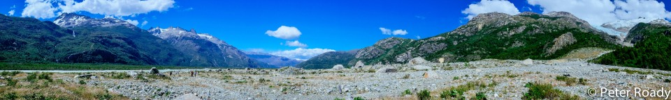 Boulder field panorama
