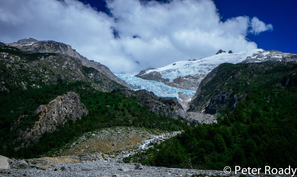 Blue glacier in Patagonia